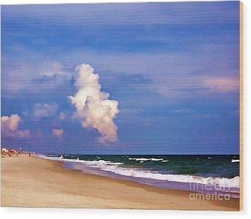 Wood Print featuring the photograph Cloud Approaching by Roberta Byram