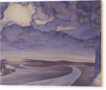 Cloud Break On The Northern Plains I Wood Print