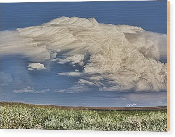 Cloud Brew Wood Print