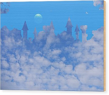 Cloud Castle Wood Print