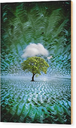 Cloud Cover Recurring Wood Print by Mal Bray