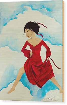 Cloud Dancing Of The Sky Warrior Wood Print