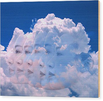 Cloud Dream Wood Print by Matthew Lacey