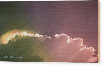 Cloud Eruption Wood Print by Stefanie Silva