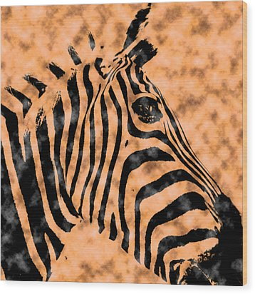 Cloud Face Zebra Wood Print by Bartz Johnson