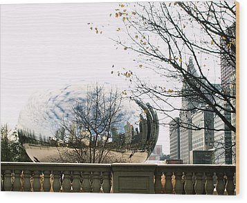 Cloud Gate - 1 Wood Print