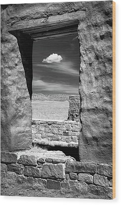 Wood Print featuring the photograph Cloud In The Window by James Barber