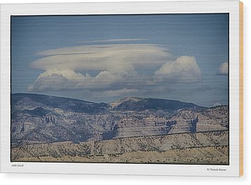 Cloud On Route 6 Wood Print by R Thomas Berner