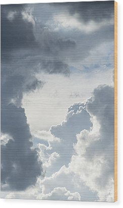 Cloud Painting Wood Print by Laura Pratt