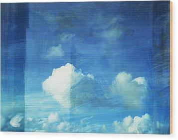 Cloud Painting Wood Print by Setsiri Silapasuwanchai