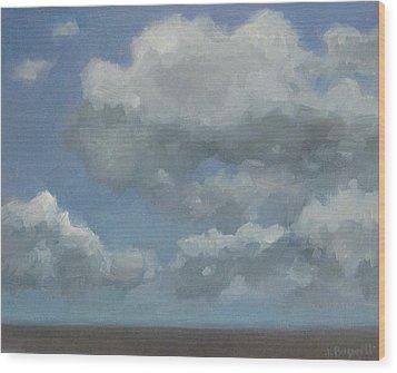 Cloud Study #3 Wood Print by Jennifer Boswell