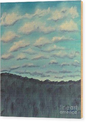 Cloud Study Wood Print