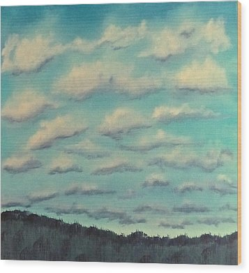 Cloud Study Cropped Image Wood Print