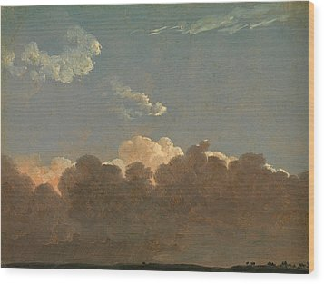 Wood Print featuring the painting Cloud Study. Distant Storm by Simon Denis