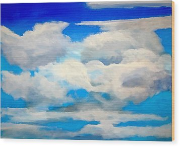 Cloud Study Wood Print by Donna Proctor