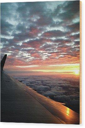 Cloud Sunrise Wood Print