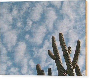 Cloud Watchers 2 Wood Print