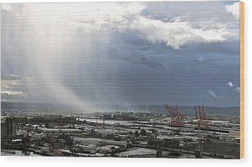 Cloudburst - Tacoma Wood Print by Sean Griffin