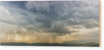 Storm Clouds - Blue Ridge Parkway Wood Print