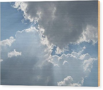 Clouds 1 Wood Print by Barbara Yearty