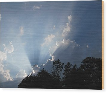 Wood Print featuring the photograph Clouds 7 by Douglas Pike