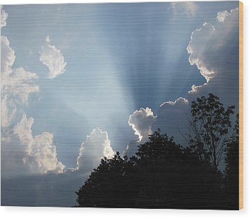 Wood Print featuring the photograph Clouds 9 by Douglas Pike