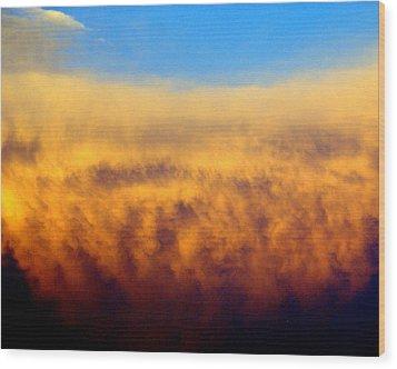 Clouds Ablaze Wood Print by Marty Koch