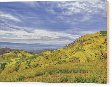 Wood Print featuring the photograph Clouds Above Temblor Range by Marc Crumpler