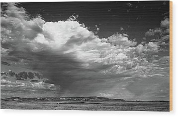 Clouds Along Indian Route 13 Wood Print by Monte Stevens