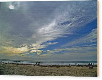 Wood Print featuring the photograph Clouds And Blue by Christopher Woods