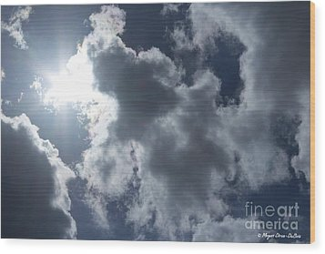 Wood Print featuring the photograph Clouds And Sunlight by Megan Dirsa-DuBois