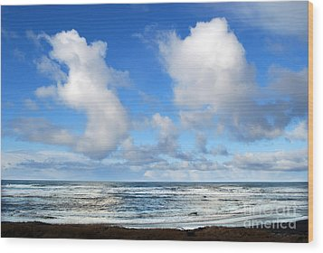 Wood Print featuring the photograph Clouds At Play by Larry Keahey