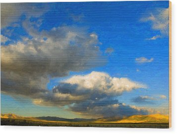 Clouds Wood Print by Betty LaRue
