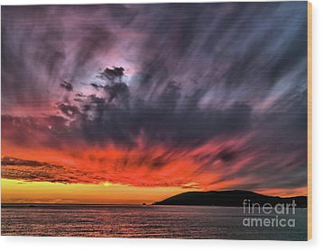 Wood Print featuring the photograph Clouds In Motion Before The Storm by Vivian Krug Cotton