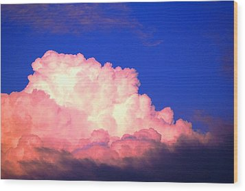 Clouds In Mystical Sky Wood Print by Lisa Johnston