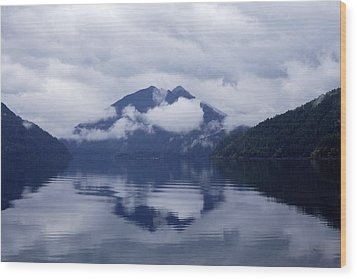 Clouds In The Lake Wood Print by Jane Eleanor Nicholas
