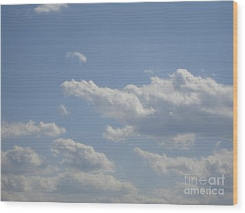 Clouds In The Sky One Wood Print by Daniel Henning