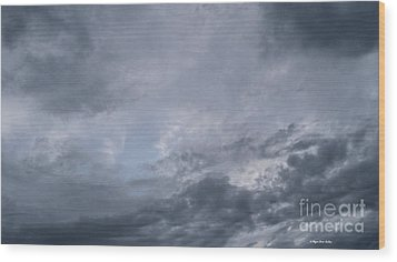 Wood Print featuring the photograph Clouds by Megan Dirsa-DuBois