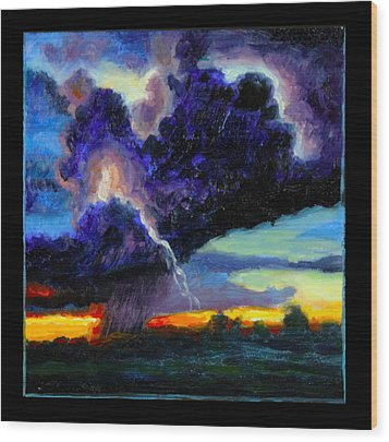 Clouds Number Six Wood Print by John Lautermilch