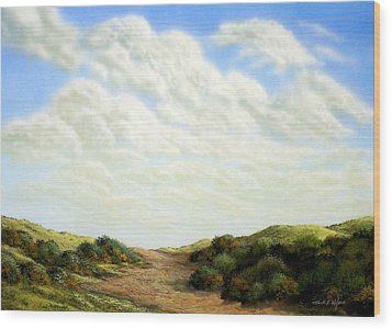 Clouds Of Spring Wood Print by Frank Wilson