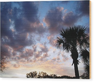 Clouds On The Move Wood Print by Francis Roberts ll
