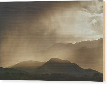 Clouds On The Rocky Mountains Front Range Foothills Wood Print by James BO  Insogna