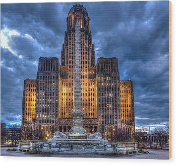 Clouds Over City Hall Wood Print by Don Nieman