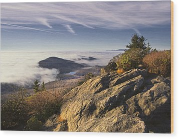 Clouds Over Grandmother Mountain Wood Print