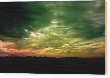 Clouds Over Ireland Wood Print