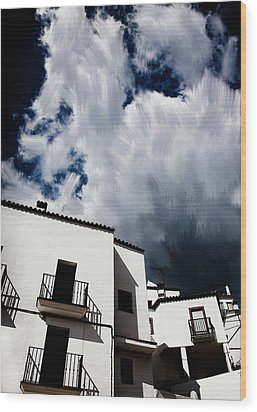 Clouds Over  Jubrique Wood Print