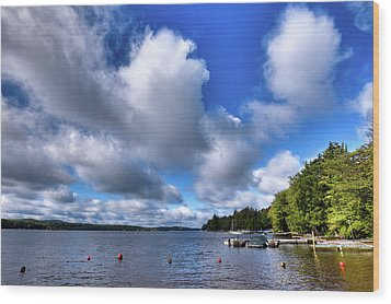 Wood Print featuring the photograph Clouds Over Palmer Point by David Patterson