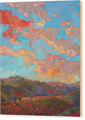 Clouds Over Paso Wood Print by Erin Hanson