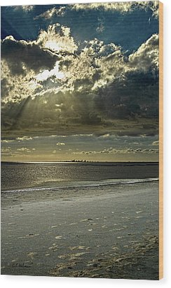 Clouds Over The Bay Wood Print by Christopher Holmes