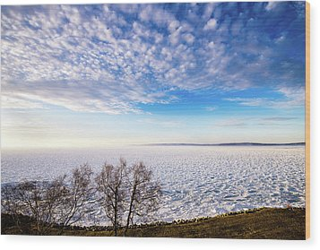 Wood Print featuring the photograph Clouds Over The Bay by Onyonet  Photo Studios